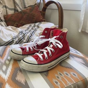 Converse high top project red